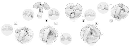 鲁班球33根拼装步骤图